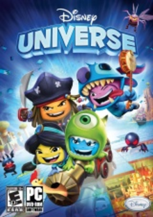 Box art for the game Disney Universe