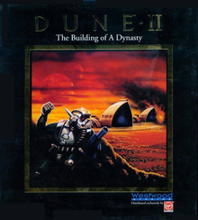 Box art for the game Dune II: The Building of a Dynasty