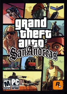 Capa do jogo Grand Theft Auto: San Andreas