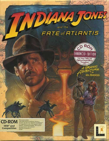 Box art for the game Indiana Jones and the Fate of Atlantis