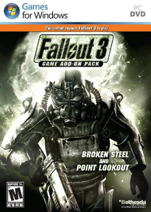Box art for the game Fallout 3 Game Add-On Pack: Broken Steel and Point Lookout