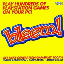 Box art for the game bleem!