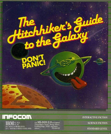 Box art for the game The Hitchhiker's Guide to the Galaxy (1984)