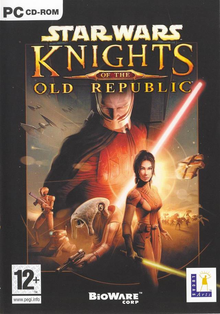 Box art for the game Star Wars Knights of the Old Republic