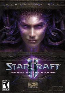 Box art for the game StarCraft II: Heart of the Swarm