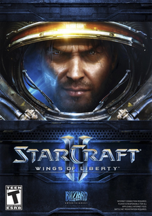 Box art for the game StarCraft II: Wings of Liberty