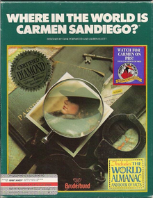 Box art for the game Where in the World is Carmen Sandiego?