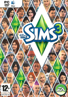 Box art for the game The Sims 3