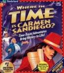 Box art for the game Where in Time is Carmen Sandiego?