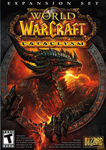 Box art for the game World of Warcraft: Cataclysm
