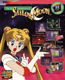 Box art for the game The 3D Adventures of Sailor Moon
