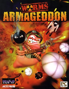 Box art for the game Worms Armageddon