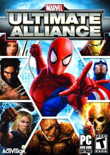 Box art for the game Marvel Ultimate Alliance