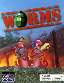 Box art for the game Worms