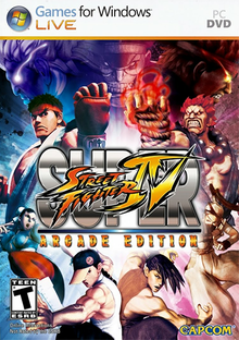 Box art for the game Super Street Fighter IV: Arcade Edition