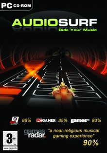 Box art for the game Audiosurf
