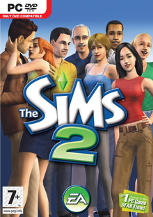 Box art for the game The Sims 2