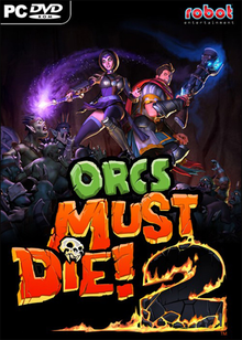 Box art for the game Orcs Must Die! 2