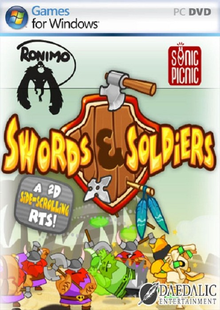 Box art for the game Swords & Soldiers