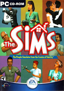 Box art for the game The Sims