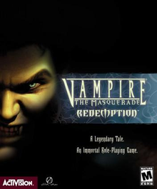 Box art for the game Vampire: The Masquerade – Redemption