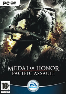 Box art for the game Medal of Honor: Pacific Assault