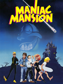 Box art for the game Maniac Mansion