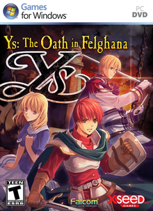 Box art for the game Ys: The Oath in Felghana