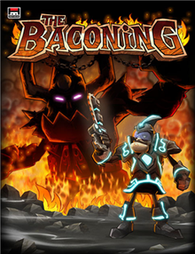 Box art for the game Deathspank: The Baconing