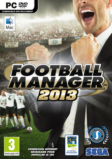 Box art for the game Football Manager 2013