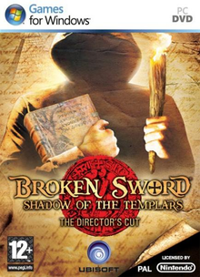 Box art for the game Broken Sword: The Shadow of the Templars – Director's Cut