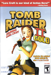 Box art for the game Tomb Raider II Gold