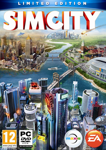 Box art for the game SimCity (2013)