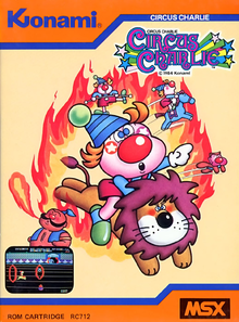 Box art for the game Circus Charlie