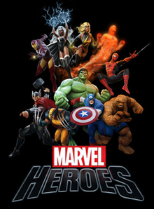 Box art for the game Marvel Heroes