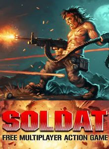 Box art for the game Soldat