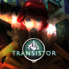 Box art for the game Transistor