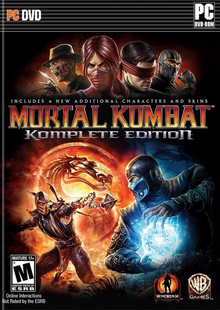 Box art for the game Mortal Kombat Komplete Edition