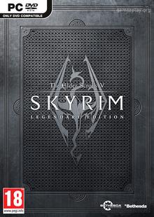 Box art for the game The Elder Scrolls V: Skyrim Legendary Edition