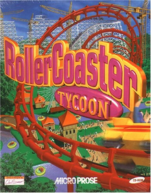 Box art for the game Roller Coaster Tycoon