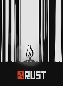 Box art for the game Rust