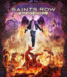 Box art for the game Saints Row: Gat out of Hell