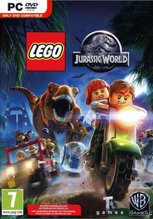 Box art for the game LEGO Jurassic World