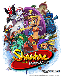 Box art for the game Shantae and the Pirate's Curse