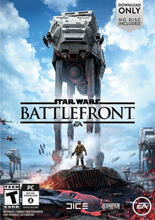 Box art for the game Star Wars Battlefront (2015)