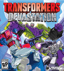 Capa do jogo Transformers: Devastation