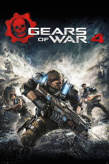 Capa do jogo Gears of War 4