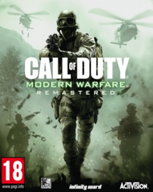 Box art for the game Call of Duty: Modern Warfare Remastered