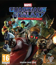 Box art for the game Marvel's Guardians of the Galaxy: The Telltale Series