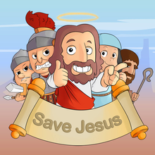 Box art for the game Save Jesus